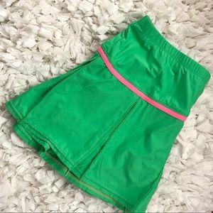 Nikefactory Kelly Green Pink Tennis Skirt